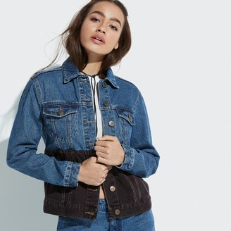 k / lab k/lab Two-Tone Denim Jacket