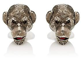 Barneys New York Men's Monkey Cufflinks-Brown