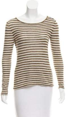 Tory Burch Striped Long Sleeve Sweater
