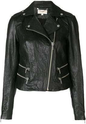 MICHAEL Michael Kors crinkle-effect biker jacket