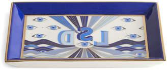 Jonathan Adler Druggist LSD Rectangle Tray - Multi Blue