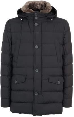 Herno Spa Beaver Collar Puffer Coat