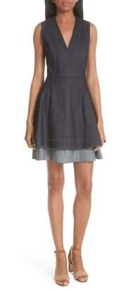 Derek Lam 10 Crosby Denim Fit & Flare Dress