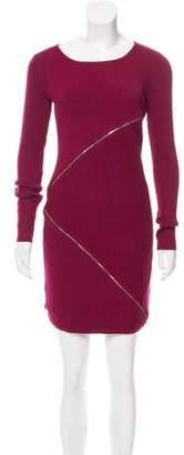 Neiman Marcus Zip-Accented Mini Dress w/ Tags