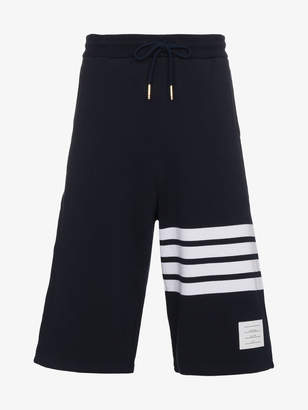Thom Browne Navy Classic Sweat Shorts With Engineered 4-bar Stripe