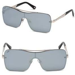 Web Square Shield Metal Sunglasses