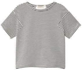 MANGO Striped t-shirt opening on the back