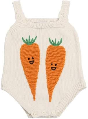 Stella McCartney Carrot Organic Cotton & Wool Bodysuit