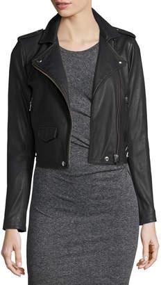 IRO Ashville Cropped Leather Jacket, Black