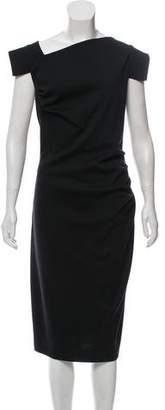 St. John Asymmetrical Wool Dress w/ Tags