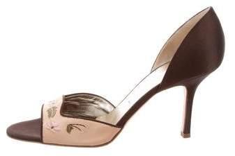 Vera Wang Satin d'Orsay Sandals