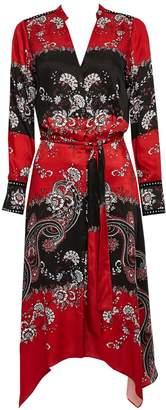 Wallis Red Paisley Printed Shirt Dress