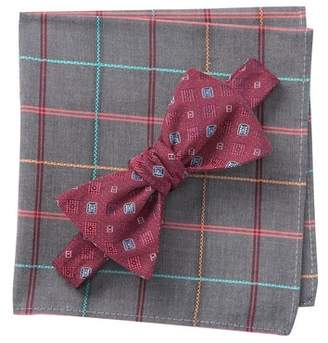 BROLETTO Byrne Neat Bow Tie & Pocket Square Set