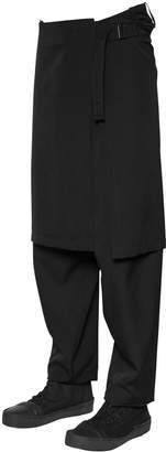 Yohji Yamamoto Wool Gabardine Pants W/ Detachable Skirt