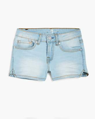 "7 For All Mankind Girl's 4-6X 2"" Short Short in Cloud Blue"