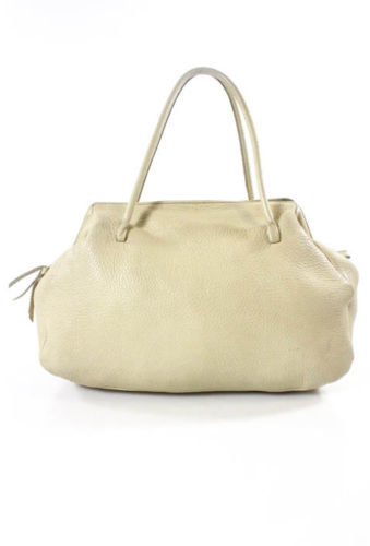 Miu MiuMIU MIU Beige Pebbled Leather Slouchy Tote Satchel Handbag