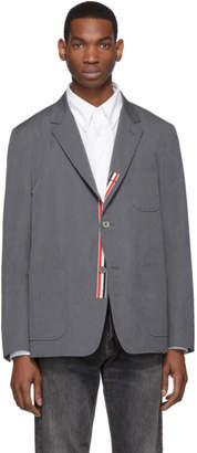 Thom Browne Grey Typewriter Cloth Unconstructed Blazer