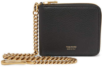 Tom Ford Full-Grain Leather Zip-Around Chain Wallet