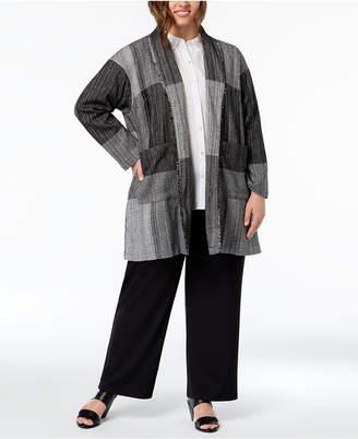 Eileen Fisher Plus Size Cotton Patchwork Jacket