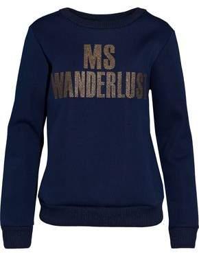 By Malene Birger Metallic Appliquéd Piqué Sweatshirt