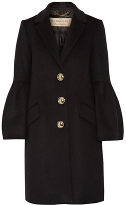 Burberry - Wool And Cashmere-blend Coat - Black $1,995 thestylecure.com