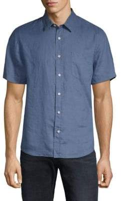 Vince Short-Sleeve Linen Shirt