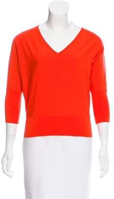 Milly V-Neck Knit Sweater