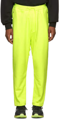 Juun.J Yellow Lapped Lounge Pants