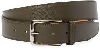 DeSanto Men's Saffiano Leather Belt