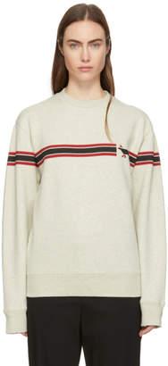 MAISON KITSUNÉ Grey Striped Fox Sweatshirt