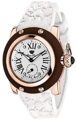 Glam Rock Women's GR40303MW Palm Beach Rose Gold Dial Brown Silicone Watch