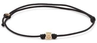 Luis Morais - Cross Charm String Bracelet - Mens - Black