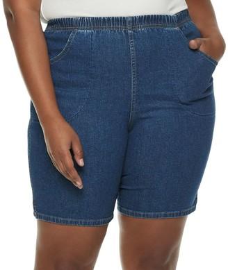 Croft & Barrow Plus Size Pull-On Denim Shorts