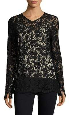 Max Mara Floral Embroidery Top