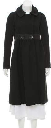 Giambattista Valli Wool Contrast Coat