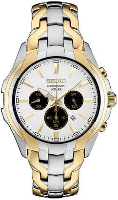 Seiko Chronograph Mens Two Tone Bracelet Watch-Ssc634