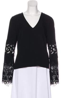 Ramy Brook Long Sleeve Embroidered Top w/ Tags