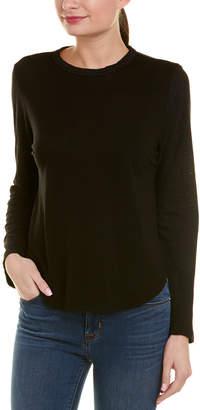 Monrow Oversized Linen-Blend Baseball T-Shirt
