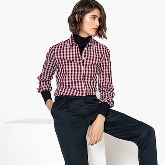 La Redoute Collections Long-Sleeved Check Print Shirt