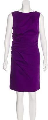 Christian Dior Gathered Knee-Length Dress