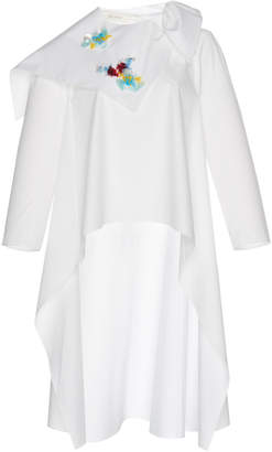 DELPOZO Embroidered Cape Shirt