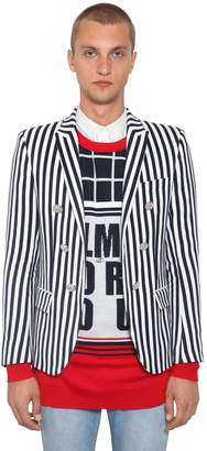 Balmain Striped Cotton Jacket