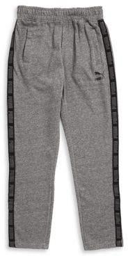 PUMA Boy's Logo Panel Print Track Pants