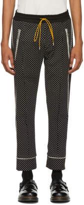 Rhude Black Polka Dot Smoking Trousers