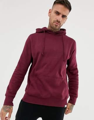 Pull&Bear hoodie in burgundy