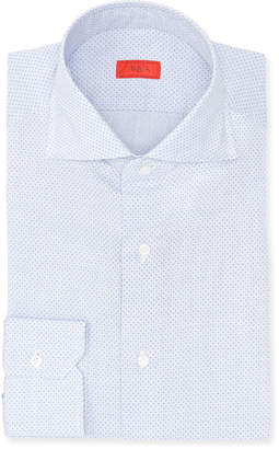 Isaia Pindot Cotton Dress Shirt