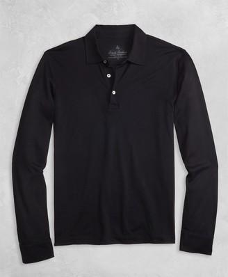 Brooks Brothers Golden Fleece Pique Knit Long-Sleeve Polo Shirt