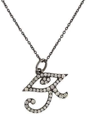 Sydney Evan 14K Diamond Eye of Ra Pendant Necklace
