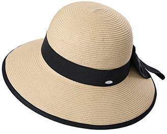Cloche Jeff   Aimy Womens Summer Straw Beach Sun Hat UPF 50 Packable Wide  Brim with bd11a8bcbae