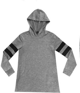 Terez Hoodie Tunic w/ Fishnet Insets, Kid Girls' Size S-XL